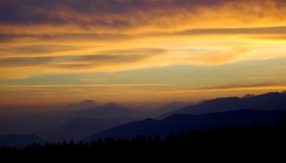 Levé de soleil sur le Mont Blanc