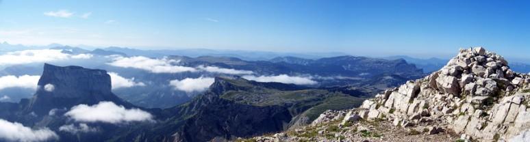 Le Mont Aiguille depuis le Grand Veymond