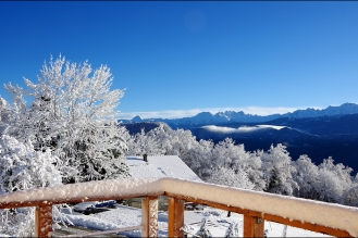 Après une chute de neige en Chartreuse