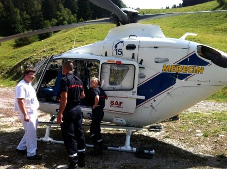 Evacuation médicalisé - Col du Coq