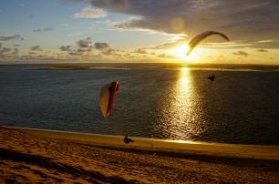 Soaring à la Dune du Pyla. Géo = 01°13'O | 44°24'N