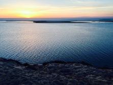 Coucher de soleil sur les bancs d'Arquins